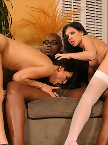 Victoria Sin and Rebecca Linares Having Awesome Threesome Sex with a Black Guy