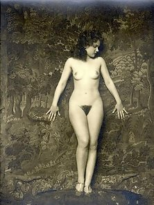 Very artistic vintage nude hairy girls posing solo pictures