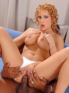 Curly Hair Lady Luba Love Getting Ass Drilled by Black Penis
