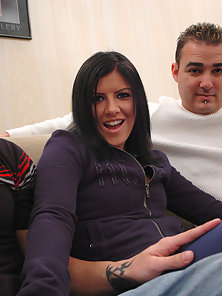 Taryn loves the thought of getting fucked by two guys with big dicks