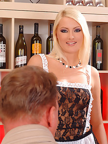Young Babes Gabriela and Marsha Enjoy Amazing Group Sex in Bar