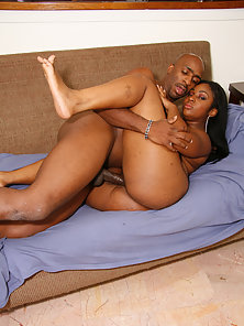 BBW Black Babe Shai Exposes Her Phat Ass and Fucked by Boyfriend Big Cock