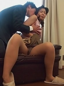 Busty Japanese girl gets her tight pussy stuffed with cock