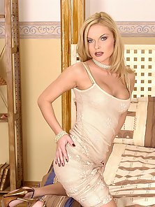 Dashing Blonde Gina B Masturbates with Glass Dildo in POV