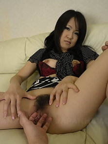 Dazzling Beauty Yoshimi Inamori Shows Her Perky Boobs and Hairy Cunt