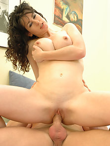 Victoria buries a thick womb raider inside her pussy.
