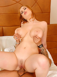 Lusty Redhead Slut Gets Titty Sucked and Rammed