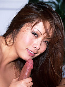 Busty asian babe enjoys a big cock inside of her cunt