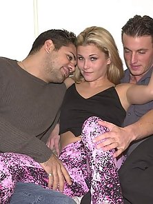 Two bisex boys party with hot babe