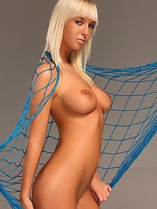Stunning blonde babe showing her sensual natural body parts
