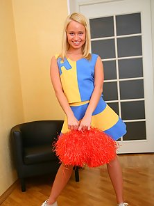 Amazing blonde cheerleader Ania getting her tight ass fucked hard