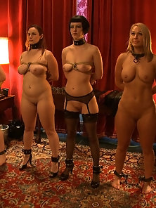 Big Tits party sex slaves serve huge breasts