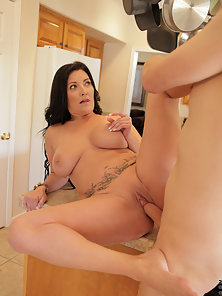 Mature mom shows what being a horny cougar is all about