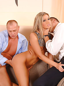 Hottest Beauty Cherry Gets Fucked by Two Dicks in Threesome Sex