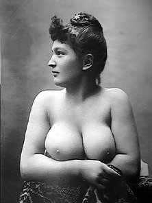 Ladies from the twenties showing their big natural tits