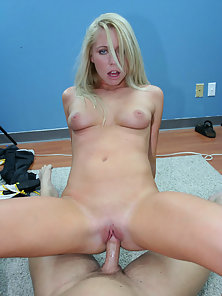 Innocent little Brynn Tyler swallows her principals cock whole