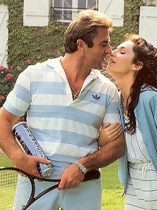 Real horny retro tennis threesome fucking outdoors pictures