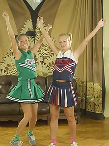 Sweet dick-hungry cheerleader having a go with each other