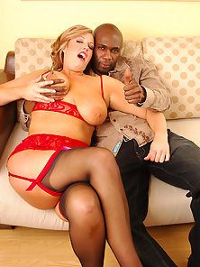 BBW Blonde Babe Zoey Andrews Riding Black Dude Hard Cock in POV