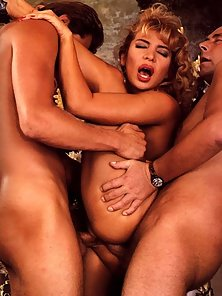 Retro blonde loves it rough in her pussy