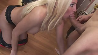 Naked Blonde Sucked Massive Dick and Fucked Hard in Many Ways