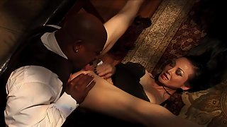 Petite Babe Gets Her Tight Pussy Banged Hard By Mature Dick