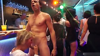 Glamorous party sluts don't care too much which cock are they going to ride