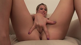 Hottest Lusty Lady in Sexy Panty Rubbing and Fingering Moist Twat