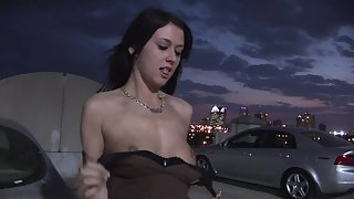 Amazing Brunette Beauty in Hot Panty Teasing Big Ass and Boobs