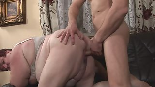 Redhead MILF with Phat Ass Riding Big Dick in Her Mature Pussy