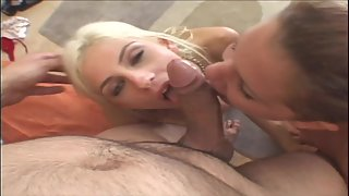 Awesome Blonde Chick and Friend Have Amazing Threesome Sex