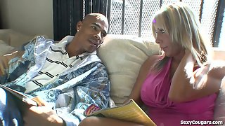 Hot MILF Takes A Big Black Dick In Her Tight Pussy!