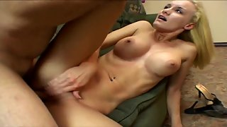 Petite Blonde Teen with Natural Tits Gets her Pussy Banged Hard