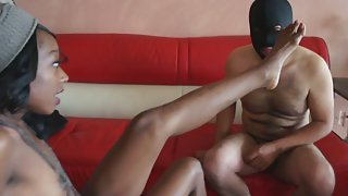 Cute Ebony Teen With Small Tits Gets Hardcore Banged