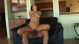 Young Brunette Chick Enjoys in Cock Riding