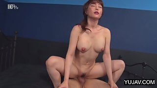 Spitroasted Japanese slut satisfies two horny dudes in threesome