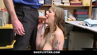 Tattooed Lusty Thief Gets Stripped and Rammed Hugely by Dirty Cop
